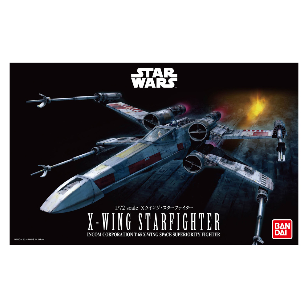 Bandai Star Wars 1//72 X-Wing Starfighter Plastic Model Free Shipping