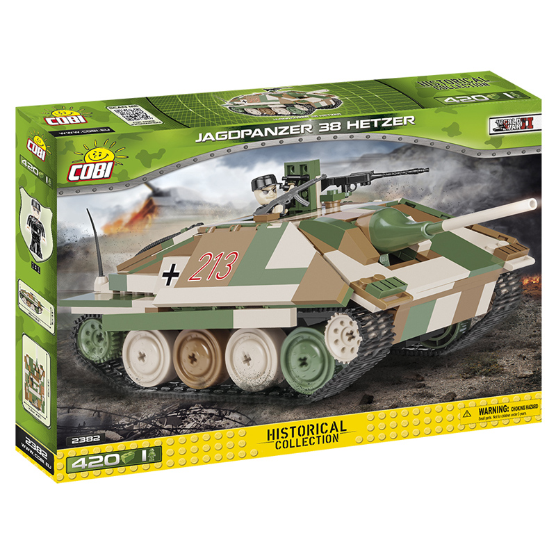 Cobi Toys Historical Collection Jagdpanzer 38 Hetzer Tank Building Set 2382 NEW