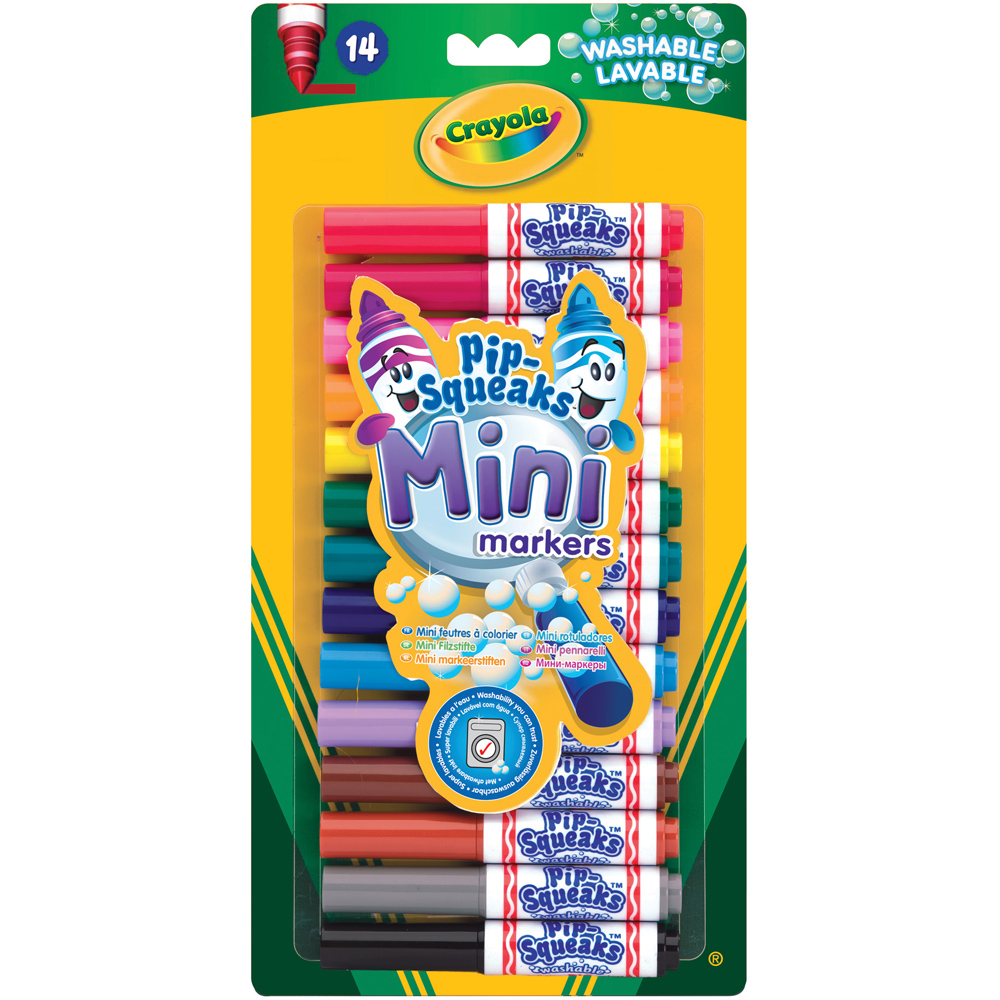 Washable Felt Tip Colouring Pens Free P/&P Crayola Pip-Squeaks 7 Mini Markers