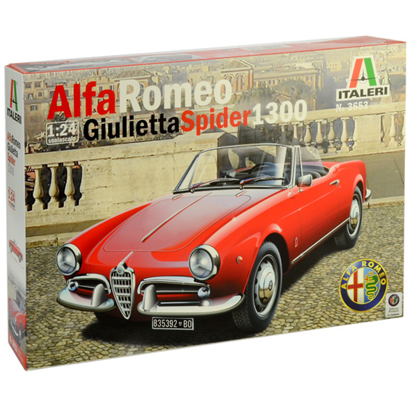 Italeri Alfa Romeo Giulietta Spider 1300 Model Kit (Scale