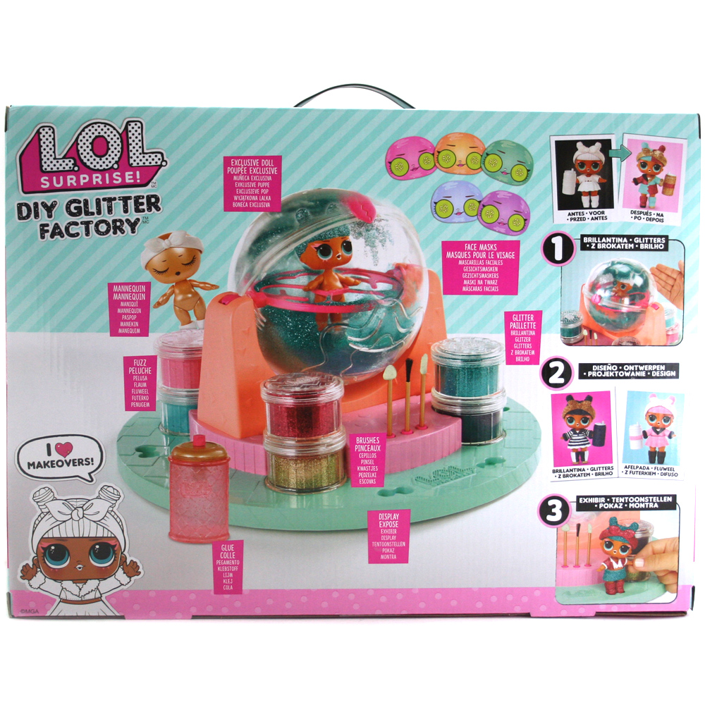 Diy Glitter Factory Doll Decorating Playset