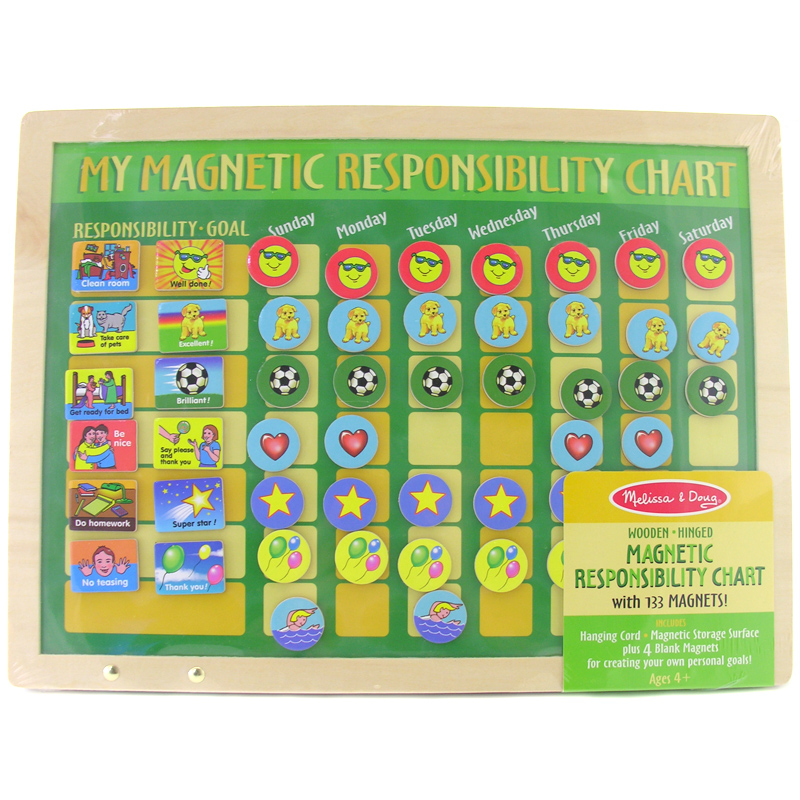 Details About Melissa Doug Magnetic Childrens Responsibility Chart New