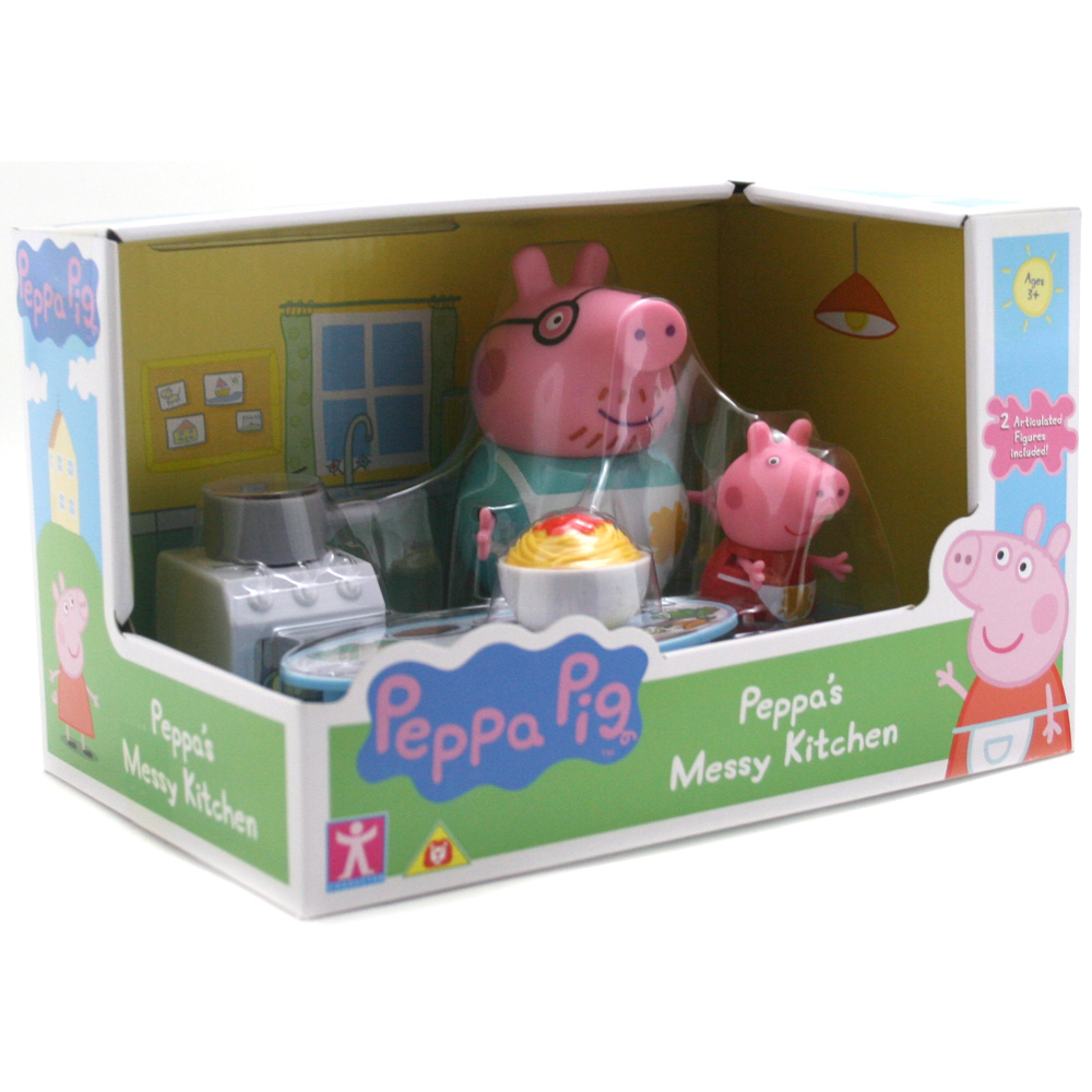 Peppa Pig ~ Peppa/'s Messy Kitchen ~ Includes 2 Figures