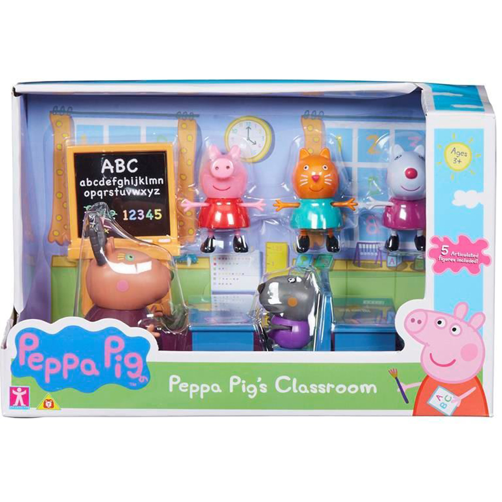 Peppa Pig's Classroom Playset with Peppa, Danny, Suzy, Candy ...
