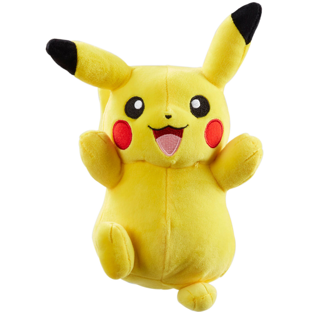 "Pokemon Pikachu Soft Stuffed Plush Yellow Cuddly Toy Size 8/"" New"
