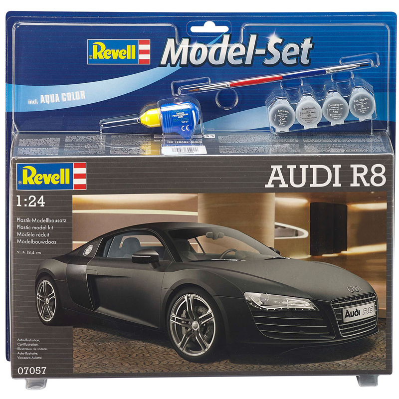 Revell Audi R8 Model Set With Paints & Brush (Scale 1:24