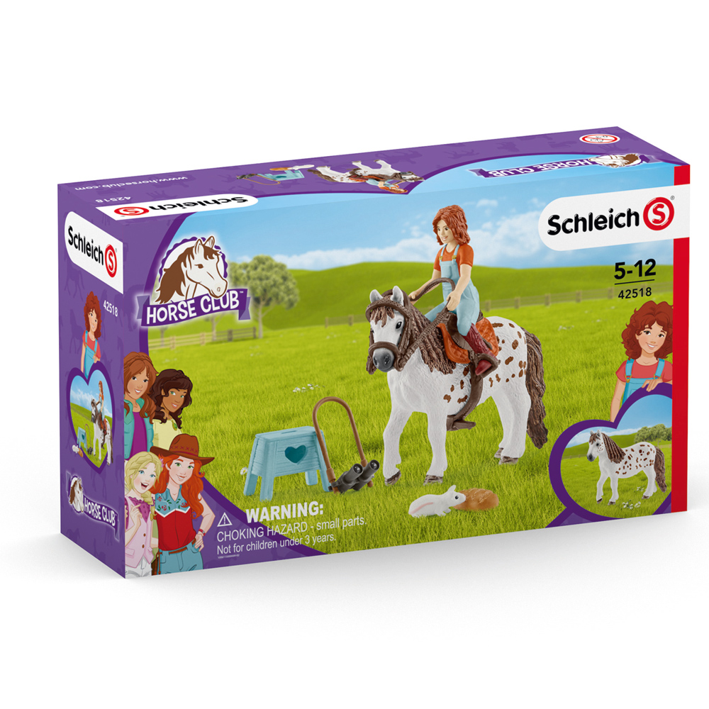 SCHLEICH 42518 Horse Club MIA /& SPOTTY