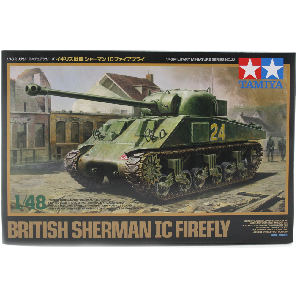 British Sherman IC Firefly Tank Model Kit (Scale 1:48)