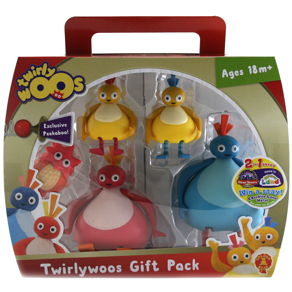 TWIRLYWOOS 5 FIGURE GIFT PACK WITH EXCLUSIVE PEEKABOO NEW